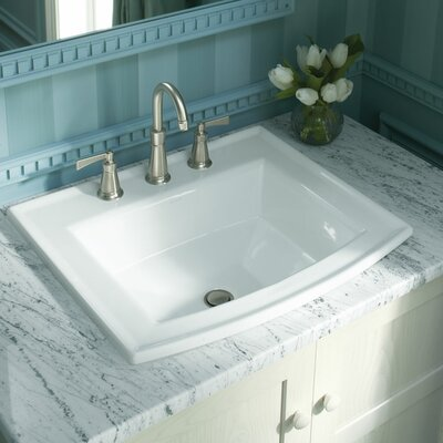 Archer Drop-In Bathroom Sink with 4