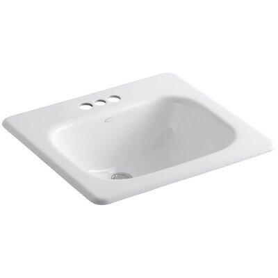 "Kohler Tahoe Drop-In Bathroom Sink with 4"" Centerset Faucet Holes"