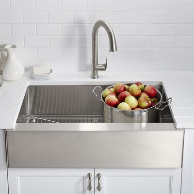 "Strive 35.5"" x 21.25"" Self-Trimming Undermount Large Single-Bowl Kitchen Sink Product Photo"