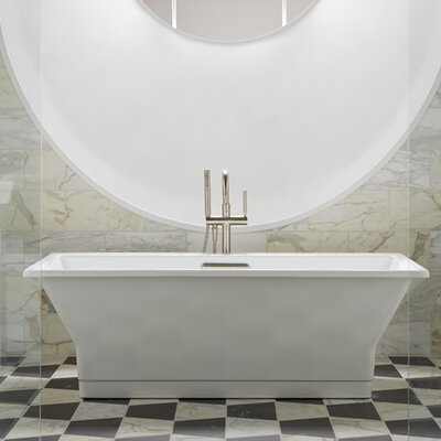 "Reve 67"" x 36"" Freestanding Bathtub with Brilliant Blanc Base Product Photo"