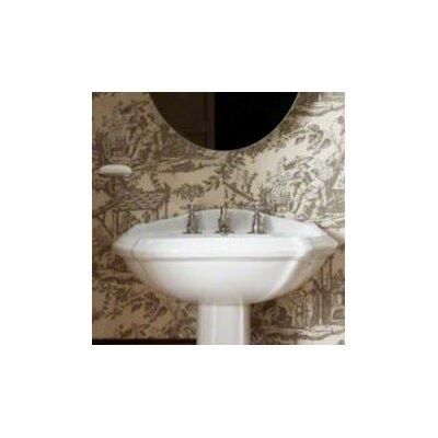 Portrait Pedestal Bathroom Sink Basin with 8