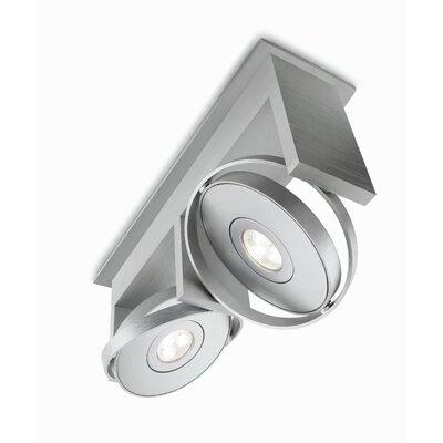 philips consumer luminaire orbit 2 light semi flush mount reviews wayfair. Black Bedroom Furniture Sets. Home Design Ideas