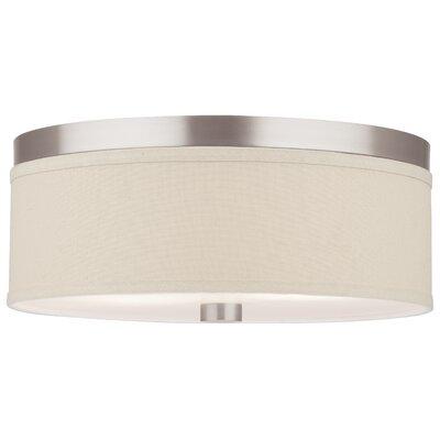 philips consumer luminaire embarcadero 2 light flush mount reviews wayfair. Black Bedroom Furniture Sets. Home Design Ideas