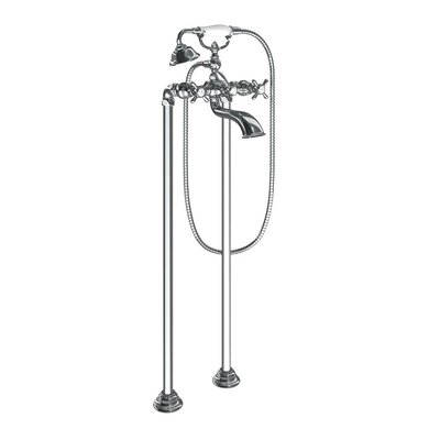 Weymouth Two Handle Floor Mount Tub Filler Trim with Hand Shower Product Photo