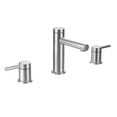 Align Double Handle Widespread Bathroom Faucet with Drain Product Photo