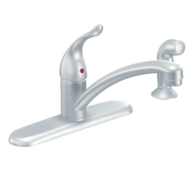 Chateau Single Handle Deck mount Kitchen Faucet by Moen