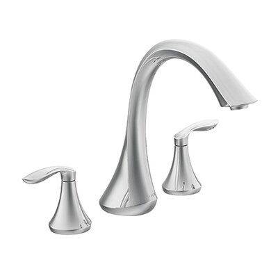 Eva Double Handle Deck Mount Roman Tub Faucet Trim Lever Handle Product Photo