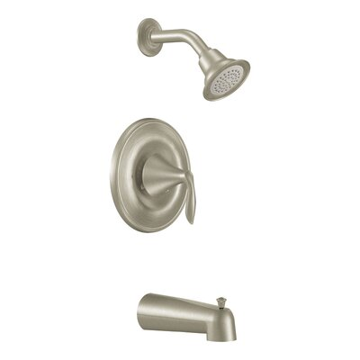Eva Posi-Temp Pressure Balance Tub and Shower Faucet Trim with Lever Handle Product Photo