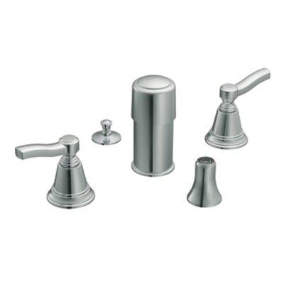 Rothbury Double Handle Vertical Spray Bidet Faucet by Moen