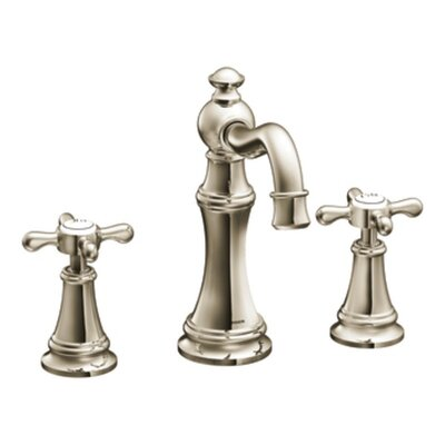 Weymouth Double Handle Widespread High Arc Bathroom Faucet with Optional Pop-Up Drain Product Photo