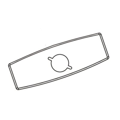 """Moen Commercial 4"""" Deck Plate and Gasket Kit"""