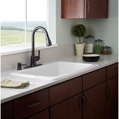kleo single handle kitchen faucet wayfair moen ca87011srs single handle kitchen faucet with pullout