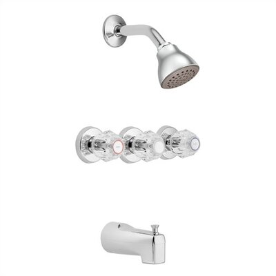 Chateau Thermostatic Shower and Tub Faucet Trim with Knob Handle Product Photo