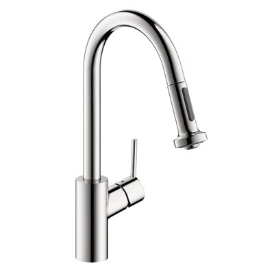 hansgrohe talis s one handle deck mounted kitchen faucet with pull down 2 sprayer reviews. Black Bedroom Furniture Sets. Home Design Ideas