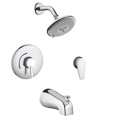 Focus S HG Pressure Balance Tub and Shower Faucet with Lever Handle Product Photo