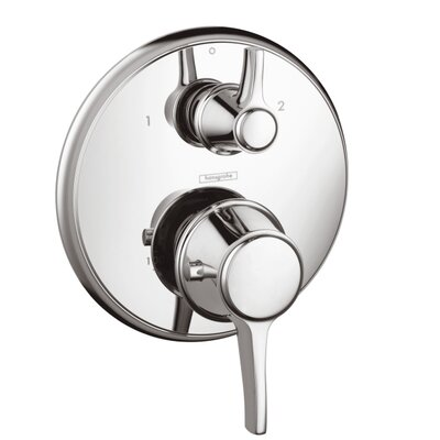 Ecostat C Thermostatic Volume Control and Diverter Faucet Trim with Lever Handle Product Photo