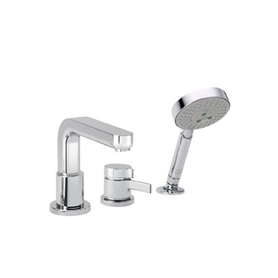 Hansgrohe Metris S Single Handle Deck Mounted Roman Tub Faucet Trim with Hand Shower