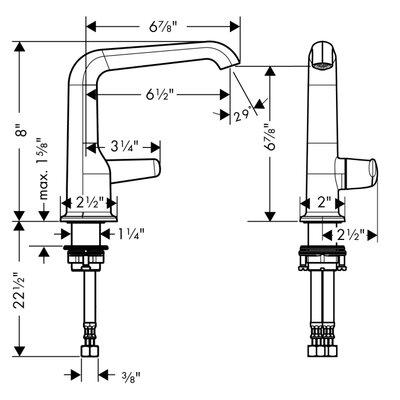 Hansgrohe Axor Bouroullec Single Handle Single Hole Bathroom Faucet