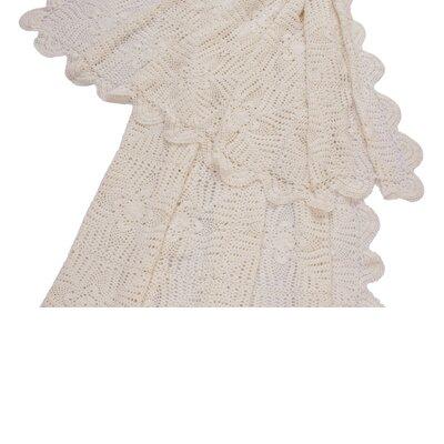Georgia Crochet Cotton Throw by Jovi Home