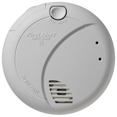 First Alert Smoke Alarm with Photoelectric Sensor and Battery Backup