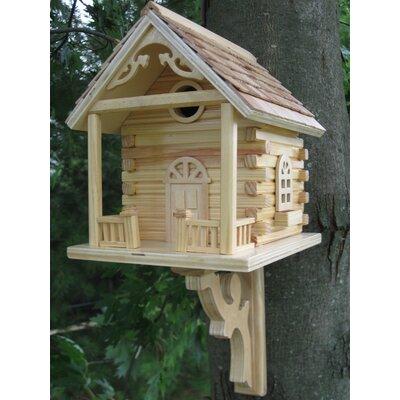 Home Bazaar Classic Series Cabin Birdhouse