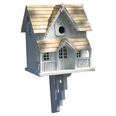 Home Bazaar Classic Series Gingerbread Cottage Birdhouse with Bracket