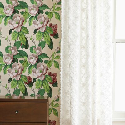 Pine Cone Hill Candlewick Cotton Rod Pocket Single Curtain Panel