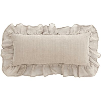 Linen Mesh Double Linen Boudoir/Breakfast Pillow by Pine Cone Hill