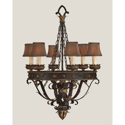 Fine Art Lamps Castile Six Light Chandelier in Iron