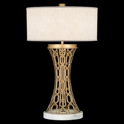 """Fine Art Lamps Allegretto Gold 32"""" H Table Lamp with Drum Shade"""