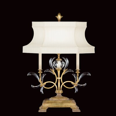 "Fine Art Lamps Beveled Arcs 32"" H Table Lamp with Bell Shade"