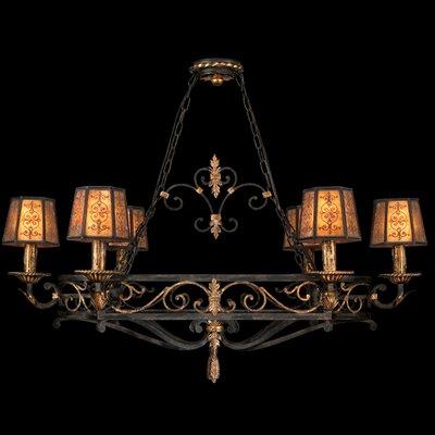 "Fine Art Lamps Epicurean 43"" Six Light Island Pendant"