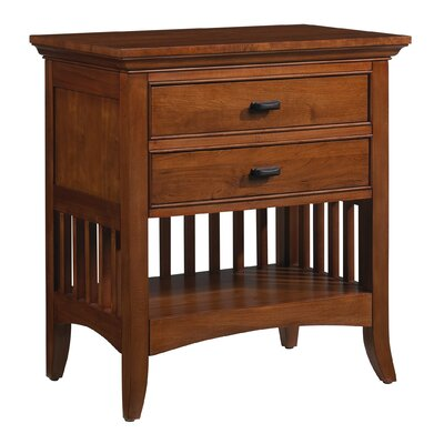 Modern Shaker 2 Drawer Nightstand by Cresent Furniture