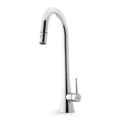 Contemporary Single Handle Single Hole Goose Neck Kitchen Faucet by Franke