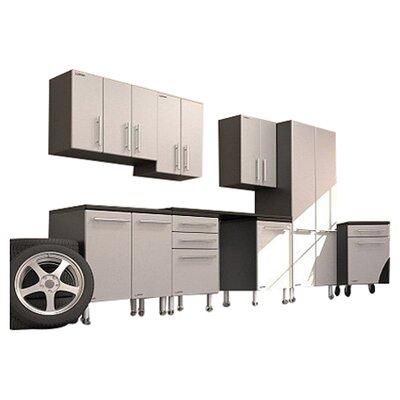 Garage PRO 7' H x 14' W x 2' D 9-Piece Deluxe Storage System with ...