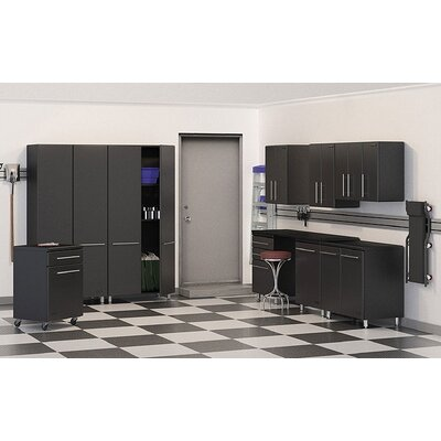 Ulti-MATE Garage 7' H x 2' D 10-Piece Storage Deluxe System with Work Station