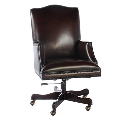Leather Executive Chair with Arms by Lazzaro Leather