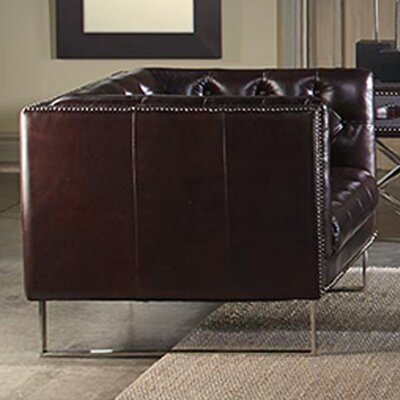 Bordeaux Leather Loveseat by Lazzaro Leather