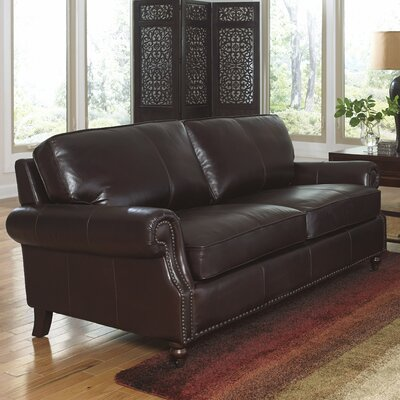 Stockton Leather Loveseat by Lazzaro Leather