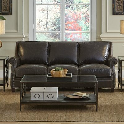 Brittan Leather Sofa by Lazzaro Leather