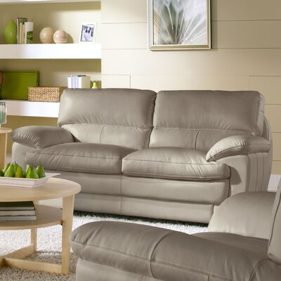Cosmo Leather Loveseat by Lazzaro Leather