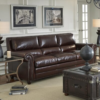 Stockholm Leather Sofa by Lazzaro Leather