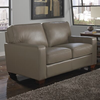 Como Leather Loveseat by Lazzaro Leather