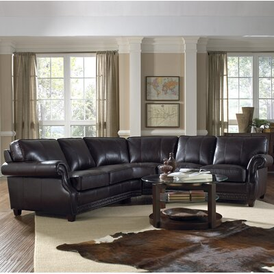 Anna Leather Sectional by Lazzaro Leather