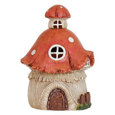 Solar Mushroom House Statue by Exhart