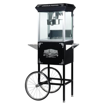 Great Northern Popcorn Lincoln 8 Ounce Antique Popcorn Machine with Cart