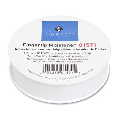 Sparco Products Sortkwik Fingertip Moistener, Nonskid Back, 1-3/4 oz.