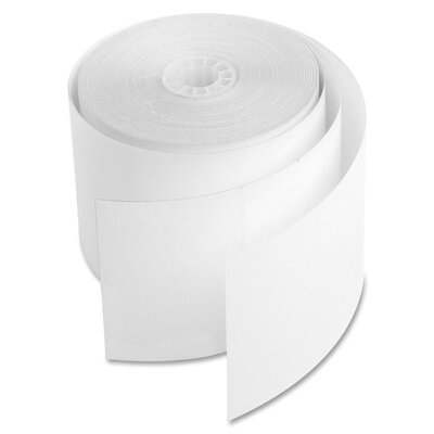 """Sparco Products Carbonless Add Machine Rolls, 2-1/4""""x90', 12/PK, White"""