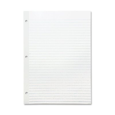 """Sparco Products Reinforced Filler Paper, Wide Rule, 11""""x8-1/2"""", White"""