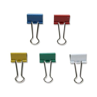 """Sparco Products Binder Clip, Small, 3/4""""Wide, 3/8"""" Capacity, 36/BX, Assorted"""